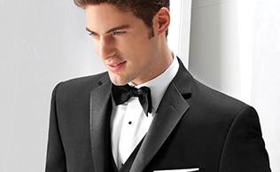 Black 'Parker' Tuxedo by Ike Behar