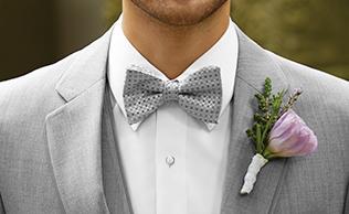 Heather Grey 'Allure' Tuxedo by Allure Men