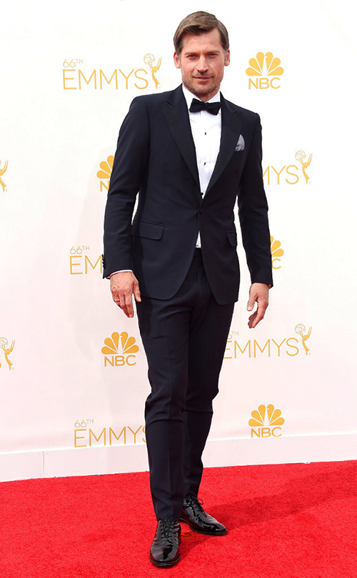 Nikolaj Coster-Waldau in Black Tie at the 2014 Emmy Awards