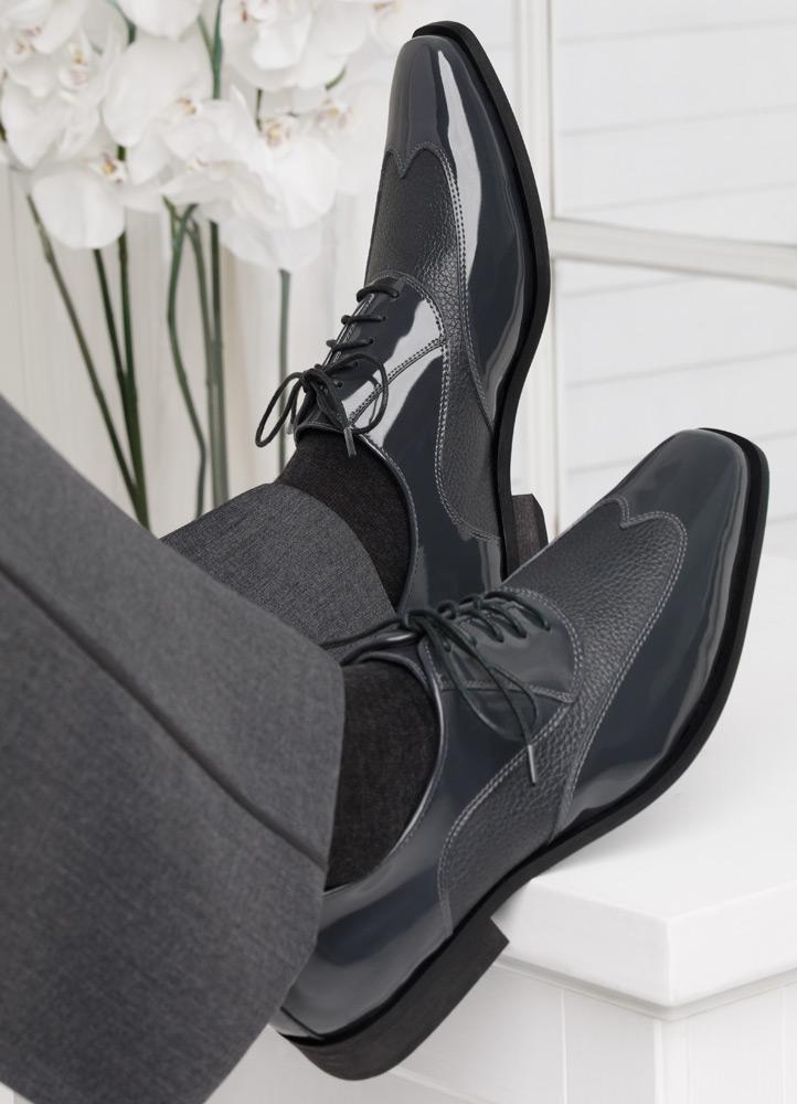Grey 'Manhattan' Tuxedo Shoe