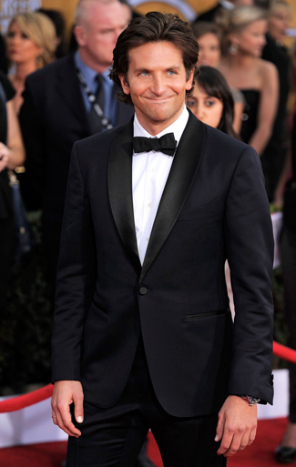Bradley Cooper in a Midnight Blue Tuxedo for the 2013 SAG Awards