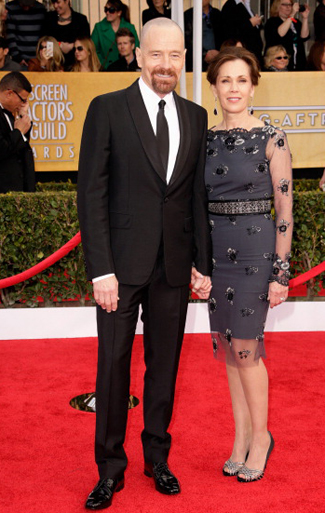 Brian Craston in a Black Shawl Tuxedo with Long Tie for the 2013 SAG Awards