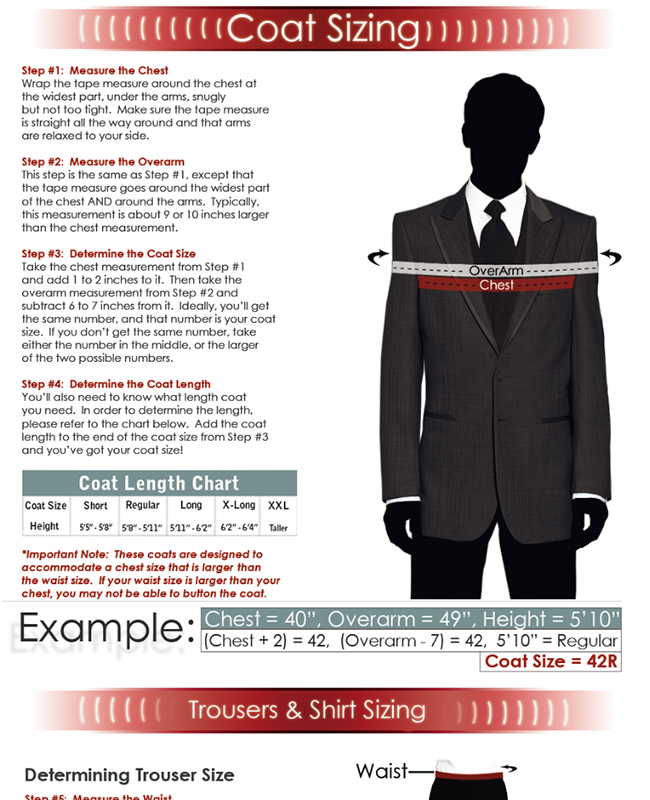 Step by Step Guide to Tuxedo Sizing!
