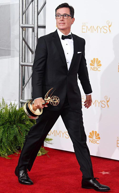Stephen Colbert in Black Tie at the 2014 Emmy Awards