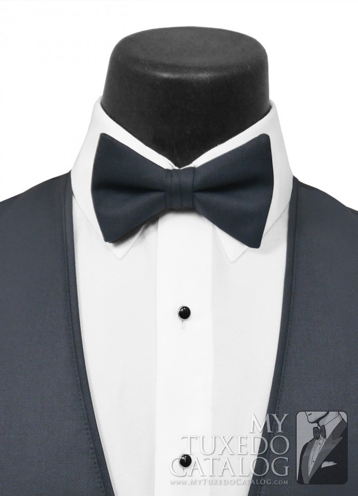 Slate Blue Allure Men Bow Tie Ties Mytuxedocatalog Com