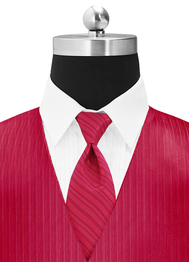 Strawberry 'Vertical' Multi-Stripe Long Tie
