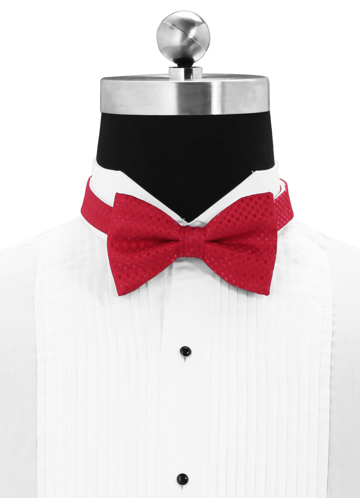 Strawberry 'Vertical' Dot Bow Tie