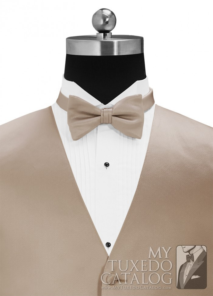 b23c960d3ce7 Taupe 'Simply Solid' Matching Bow Tie | Ties | MyTuxedoCatalog.com