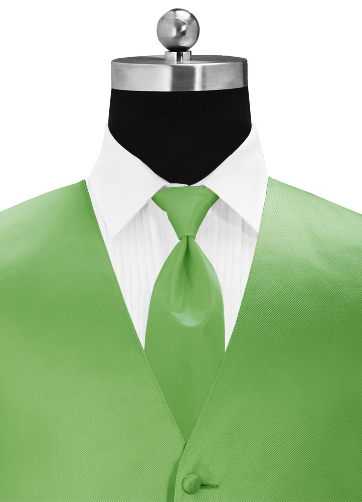 Kelly Green 'Simply Solid' Long Tie
