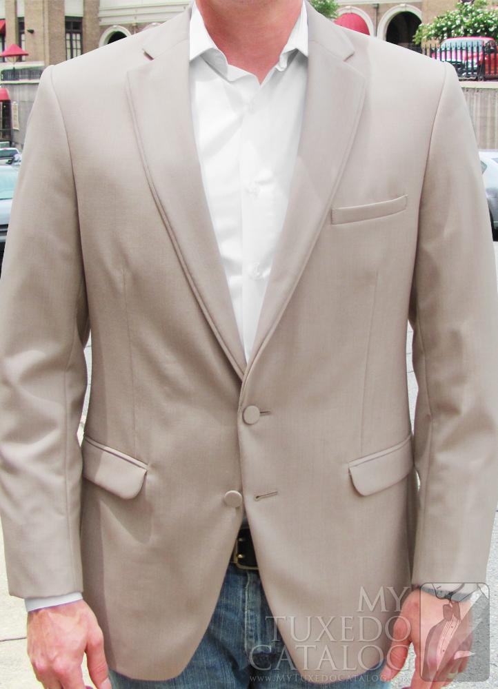 Tan 'Allure Men' Tuxedo - Informal Front View