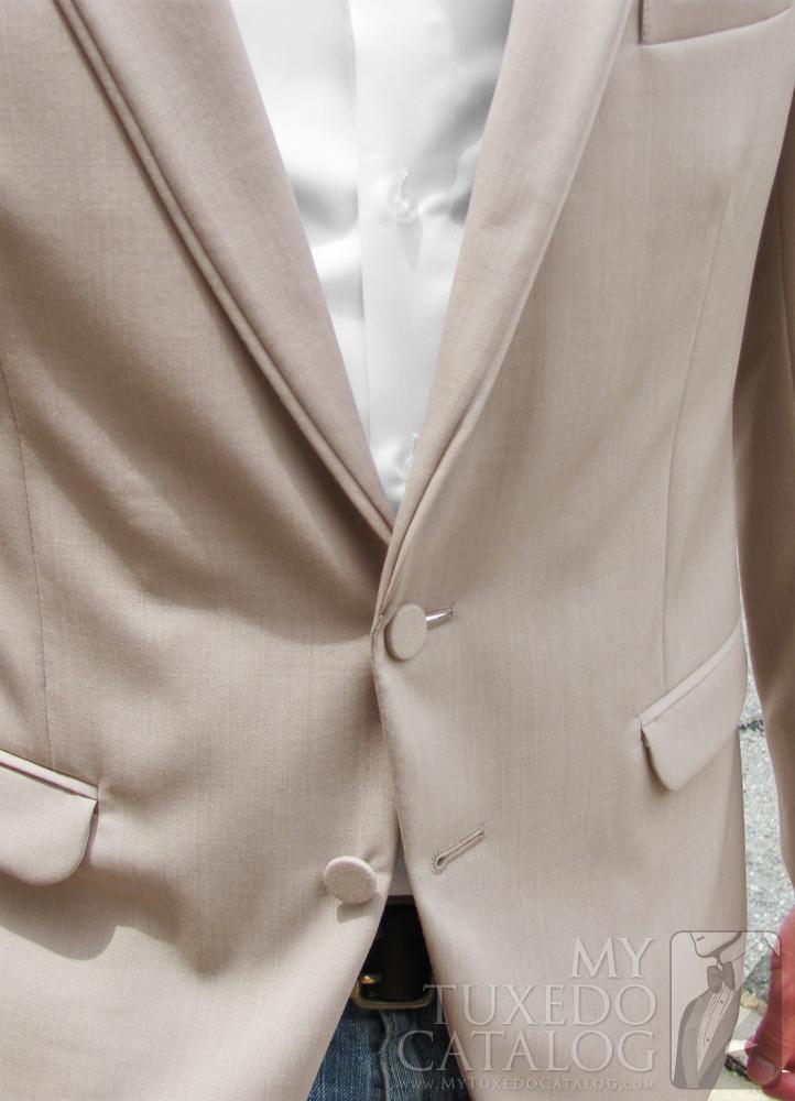 Tan 'Allure Men' Tuxedo - Two Button Front