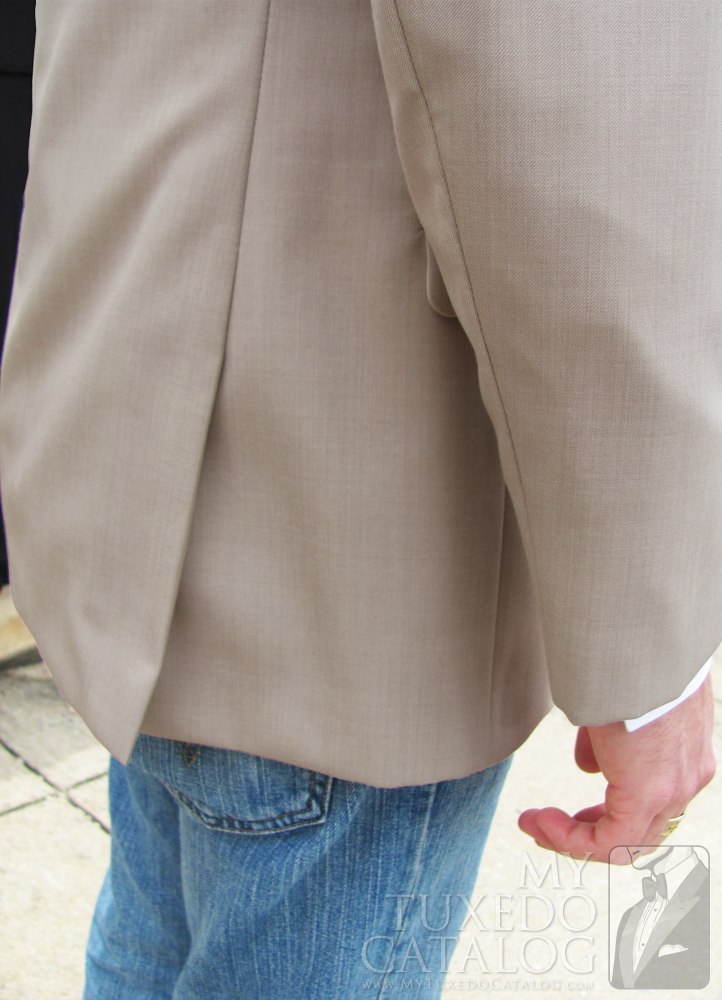 Tan 'Allure Men' Tuxedo - Side Vents