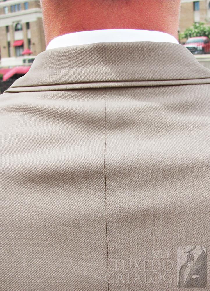 Tan 'Allure Men' Tuxedo - Self Trim Top Collar