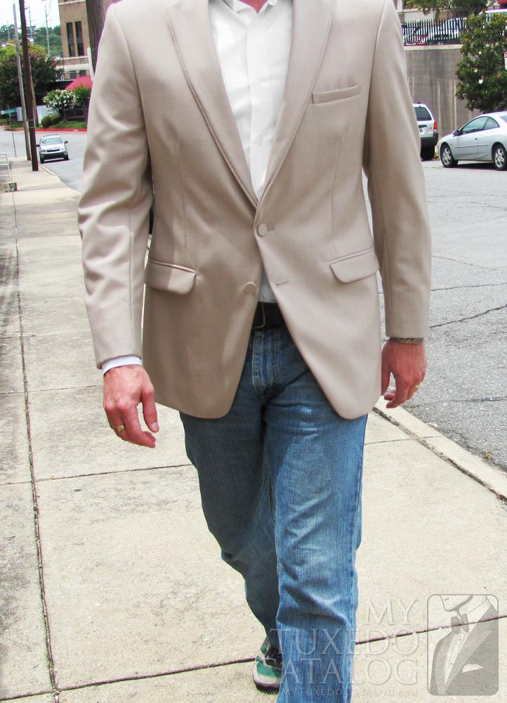 Tan 'Allure Men' Tuxedo - Walking View