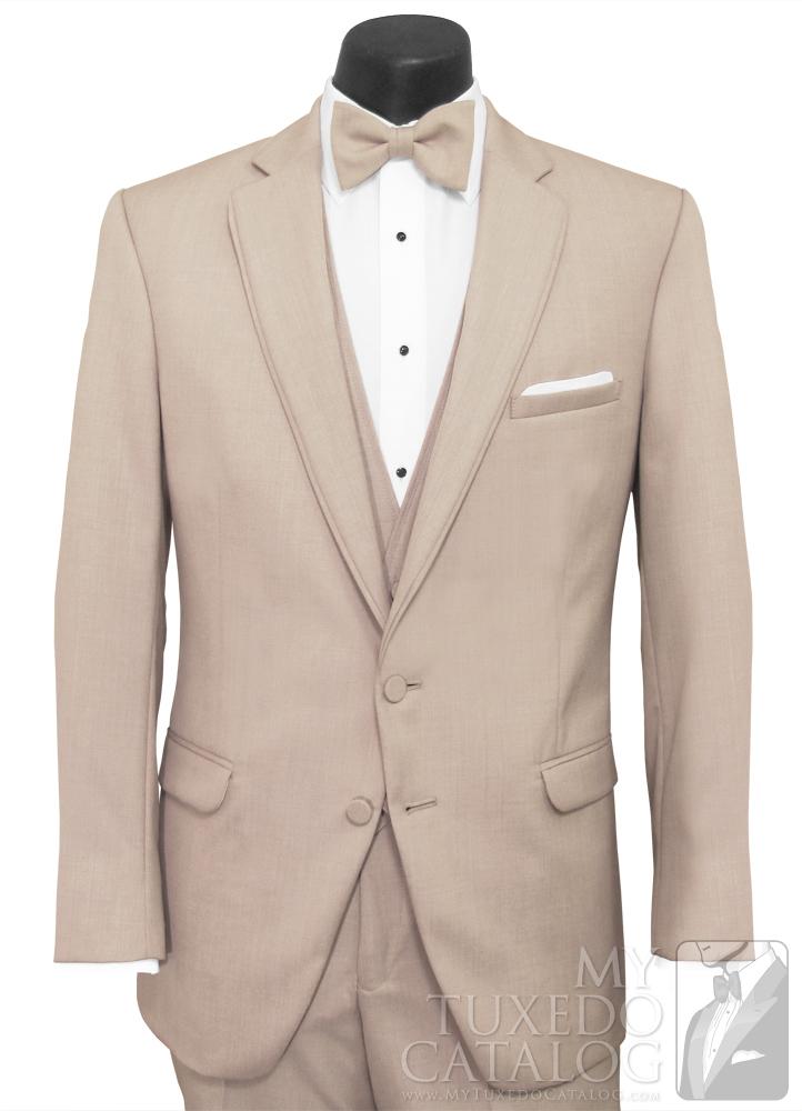 Tan 'Allure Men' Tuxedo - Front View