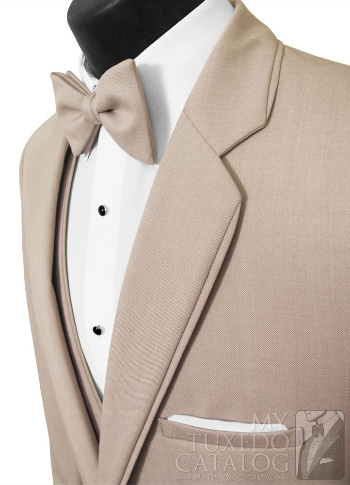 Tan 'Allure Men' Tuxedo - Self Trim Lapels and Top Collar