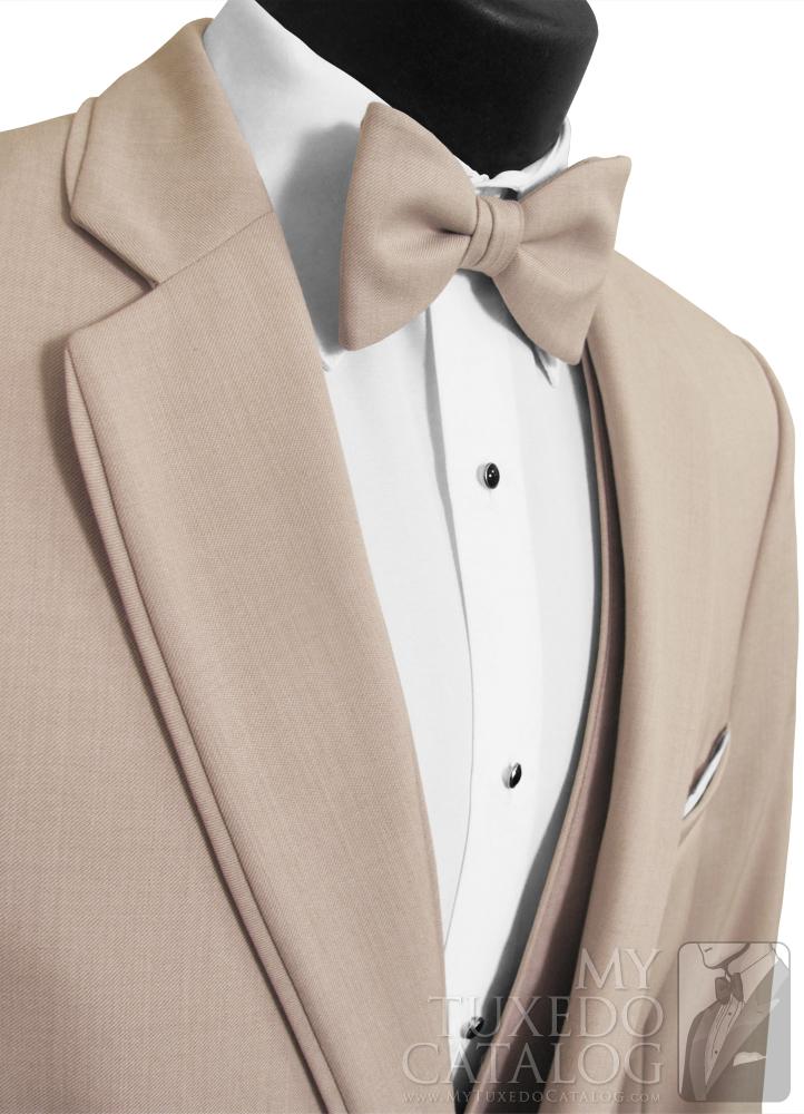 Tan 'Allure Men' Tuxedo - Deep White 'V'