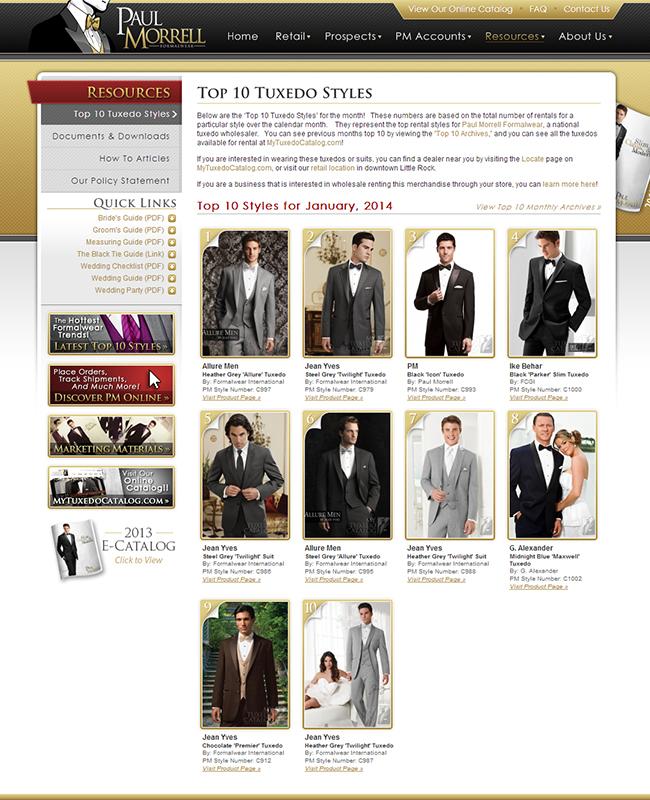 Top Ten Rental Tuxedo Styles for January 2014!
