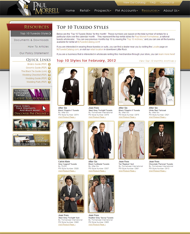 Top Ten Tuxedo Rental Styles for February 2012!