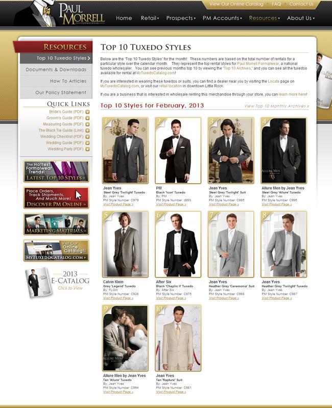 Top Ten Tuxedo Rental Styles for February 2013!