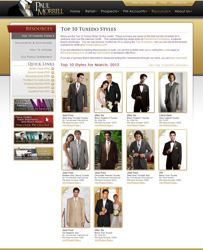 Top Ten Tuxedo Rental Styles for March 2012!