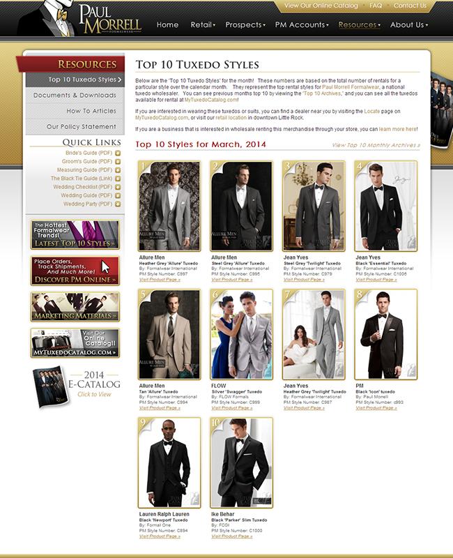 Top Ten Rental Tuxedo Styles for March 2014!