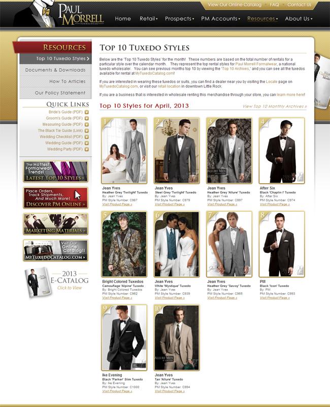 Top Ten Rental Tuxedo Styles for April 2013!