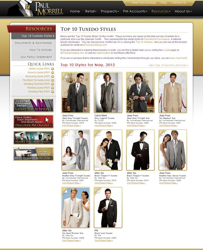 Top Ten Tuxedo Rental Styles for May 2012!