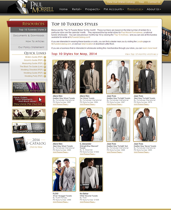 Top Ten Rental Tuxedo Styles for May 2014!