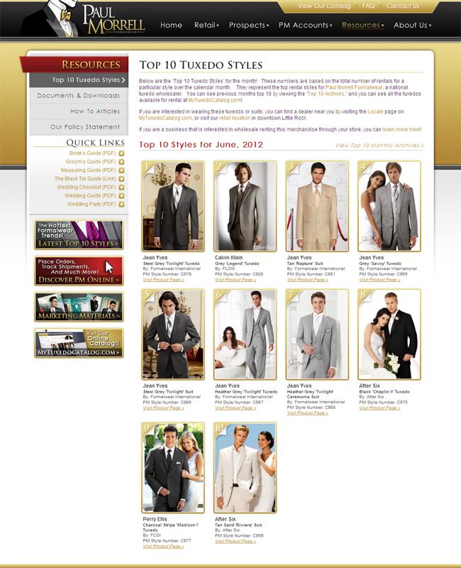 Top Ten Tuxedo Rental Styles for June 2012!
