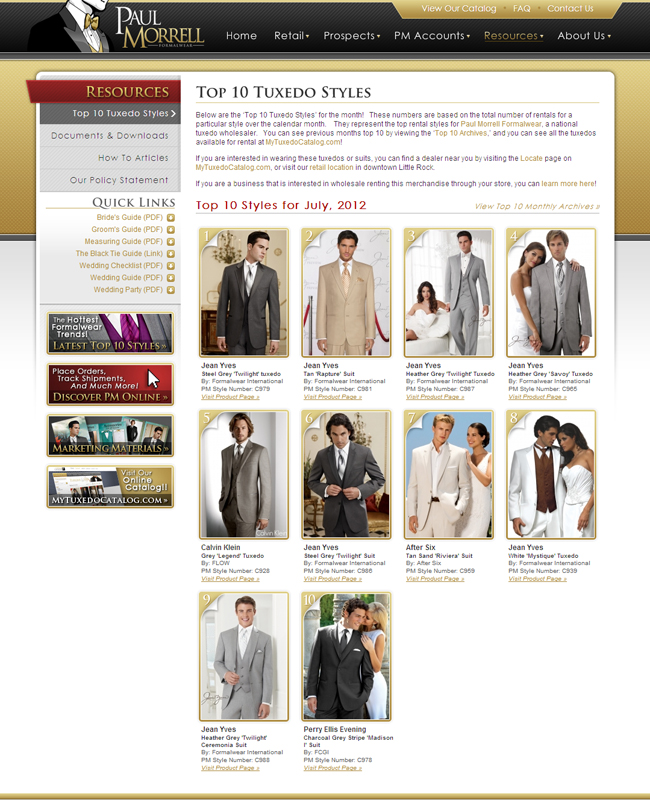 Top Ten Tuxedo Rental Styles for July 2012!
