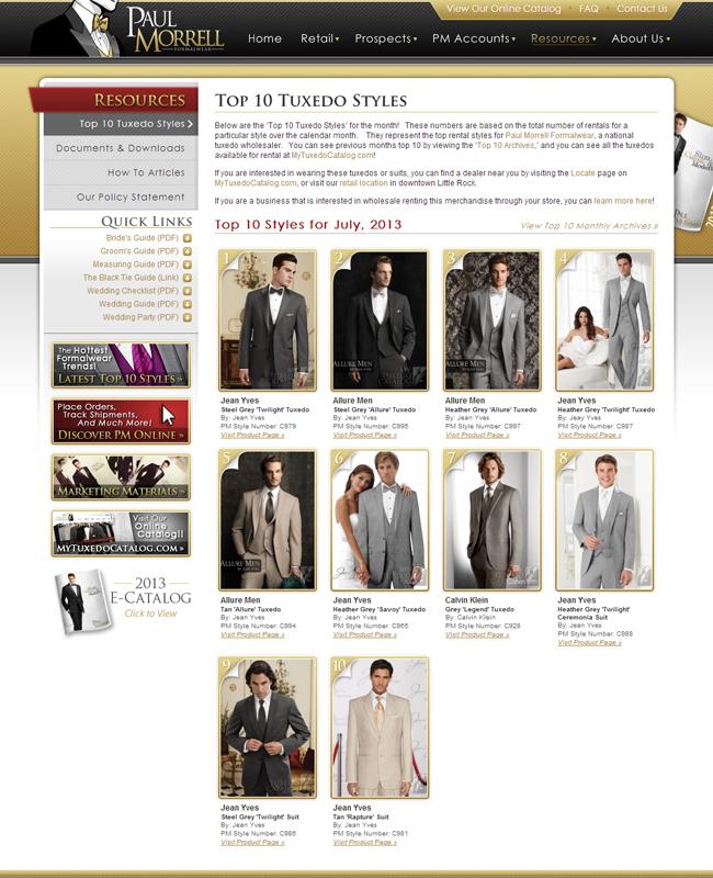 Top Ten Rental Tuxedo Styles for July 2013!