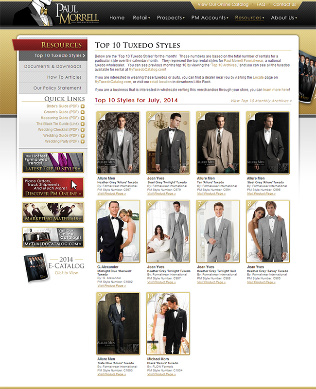 Top Ten Rental Tuxedo Styles for July 2014!