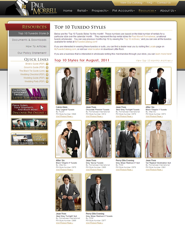 Top 10 Tuxedo Styles for August, 2011