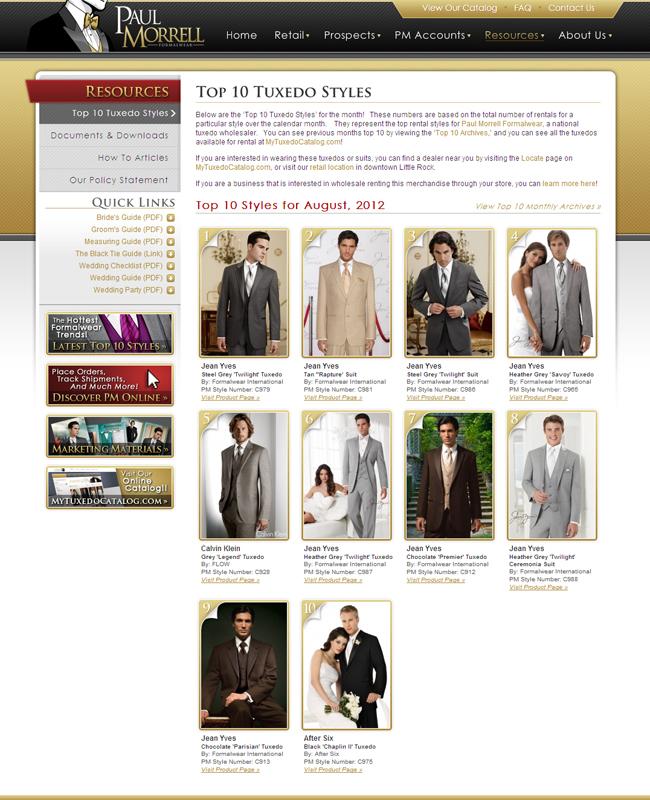 Top Ten Tuxedo Rental Styles for August 2012!