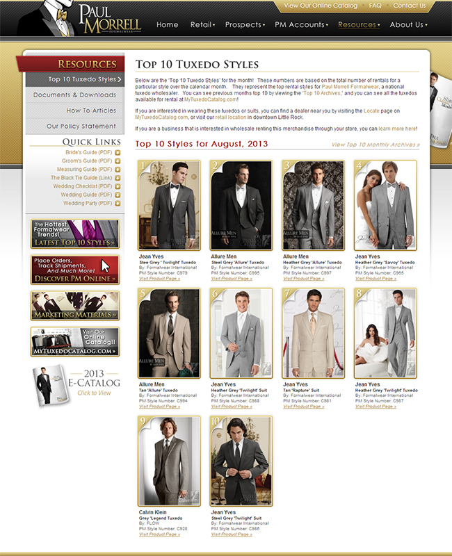 Top Ten Rental Tuxedo Styles for August 2013!