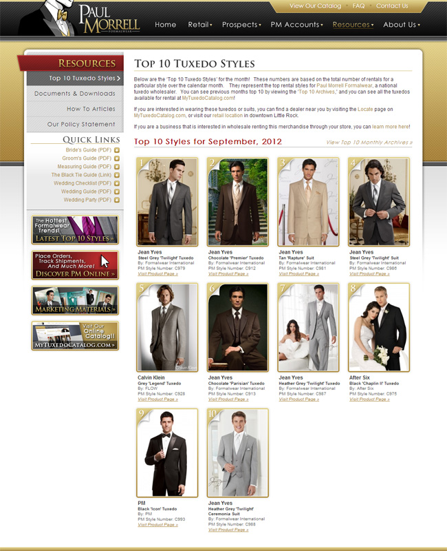 Top Ten Tuxedo Rental Styles for September 2012!