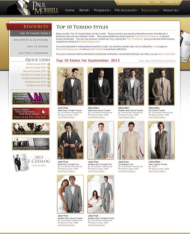 Top Ten Rental Tuxedo Styles for September 2013!