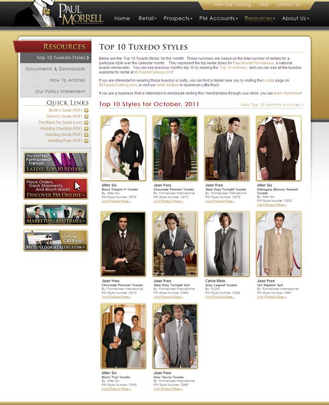 Top Ten Tuxedo Rental Styles for October 2011