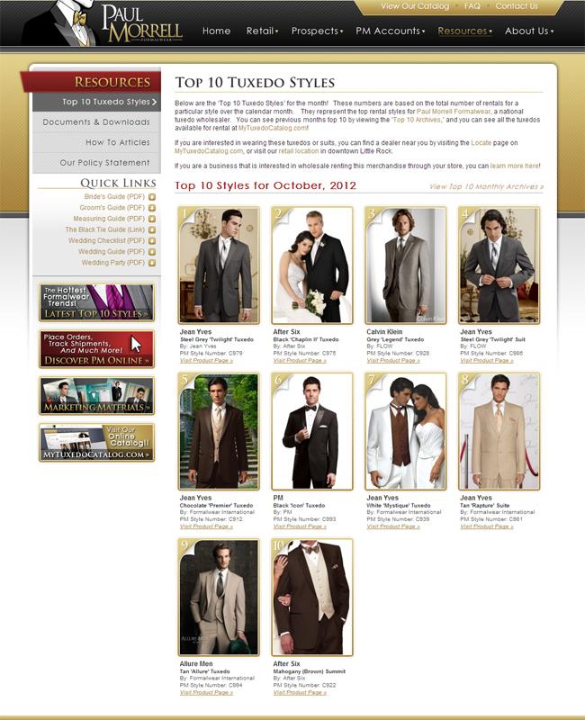 Top Ten Tuxedo Rental Styles for October 2012!