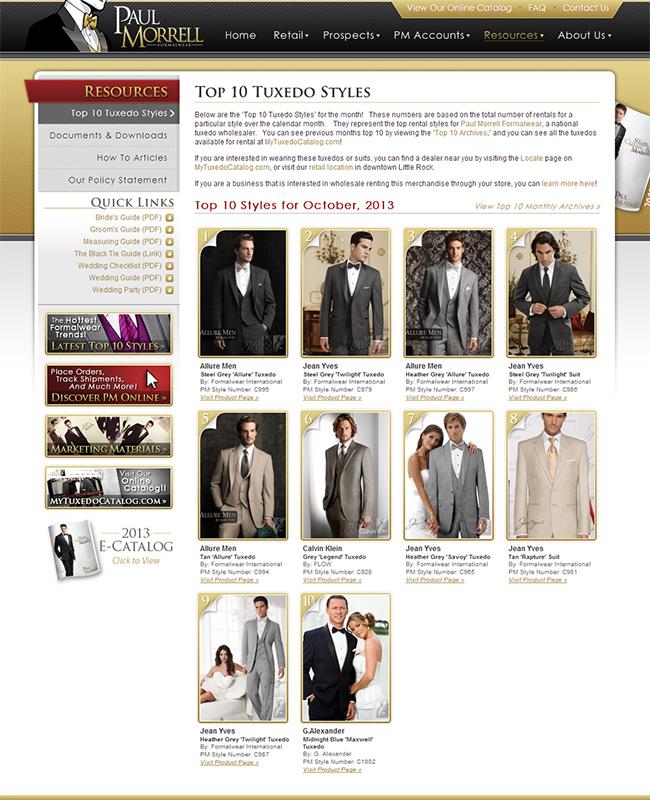 Top Ten Rental Tuxedo Styles for October 2013!