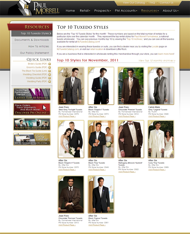 Top Ten Tuxedo Rental Styles for November 2011