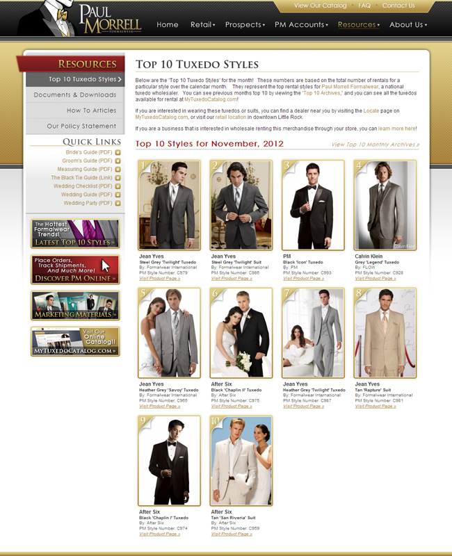 Top Ten Tuxedo Rental Styles for November 2012!