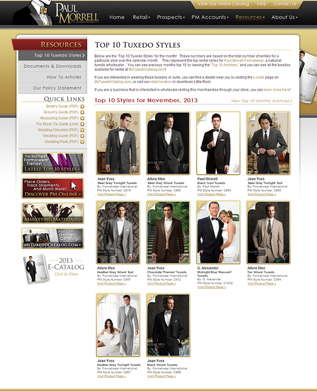 Top Ten Rental Tuxedo Styles for November 2013!