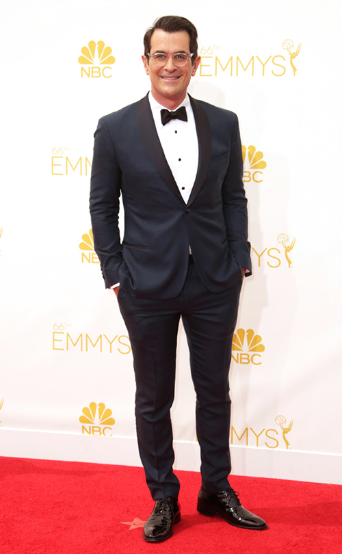 Ty Burrell in a midnight blue tuxedo at the 2014 Emmy Awards
