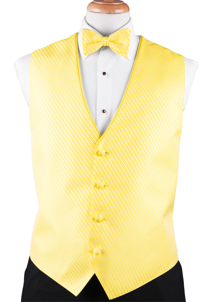 Bright Yellow 'Allure' Vest by Black Gold