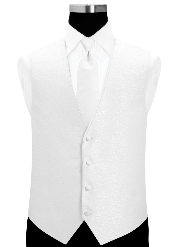 White 'Celebration' Vest by Larr Brio