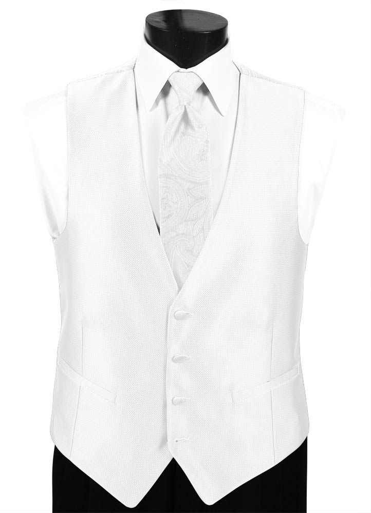White 'Dynasty' Vest by FLOW