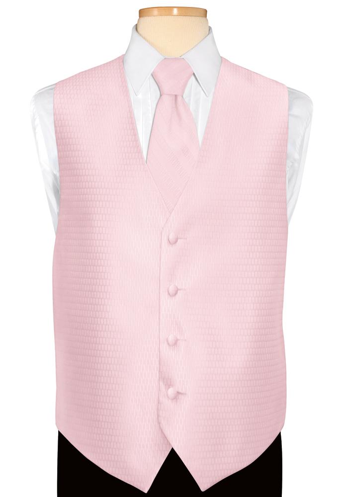 Petal Pink 'Crystal' Vest by Jean Yves