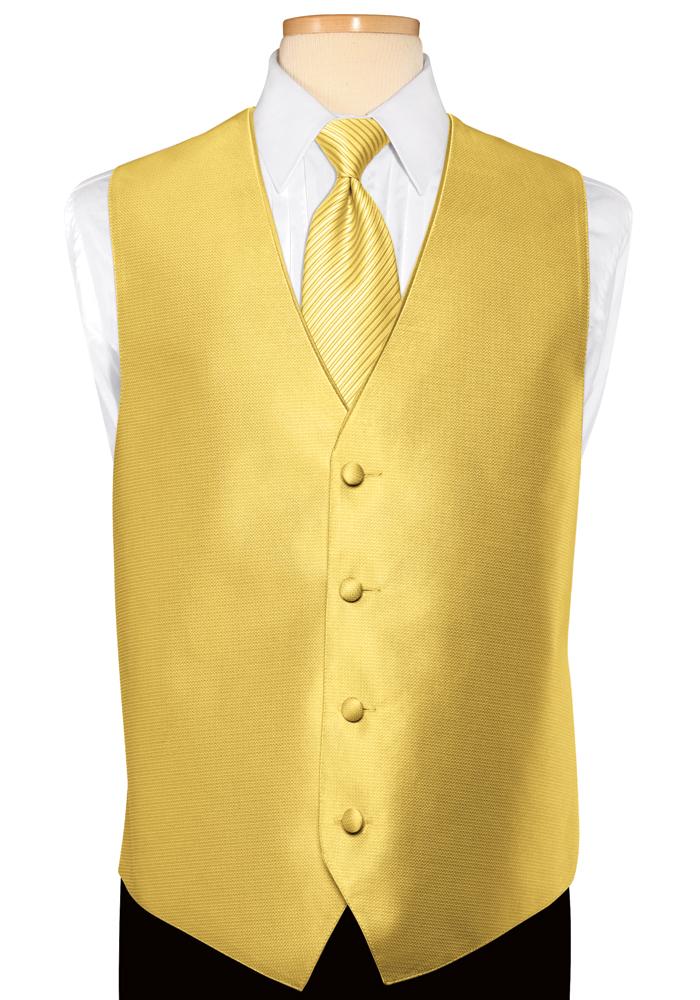 Gold Metallic 'Tango' Vest by Jean Yves